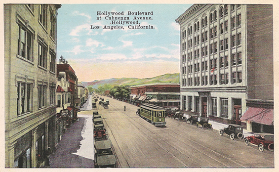 1920s Hollywood/Cahuenga looking west