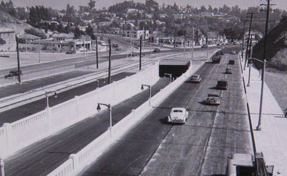 1940 Cahuenga Pass Parkway looking towards Whitley Heights