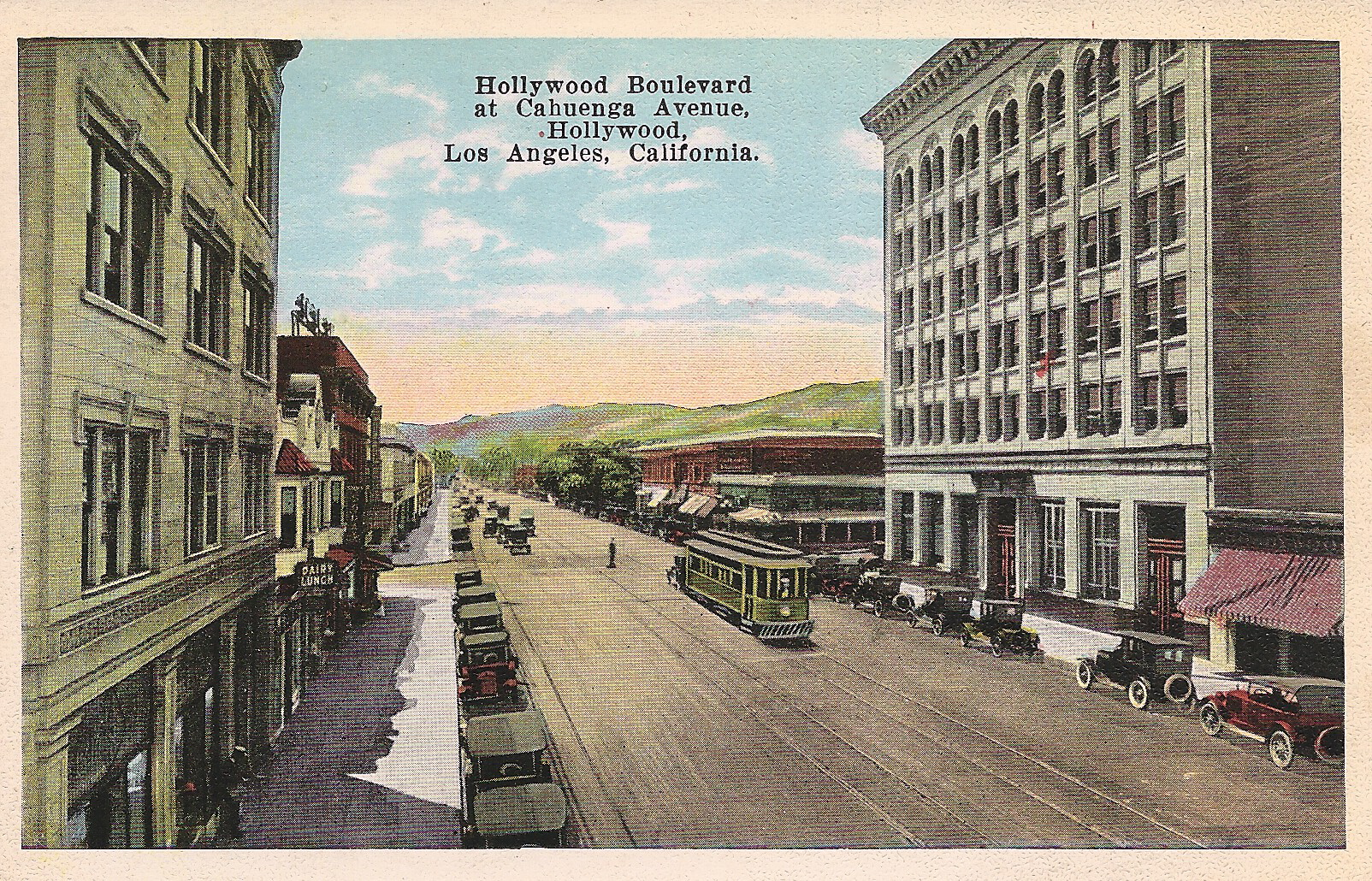 Hollywood Boulevard at Cahuenga Avenue looking west