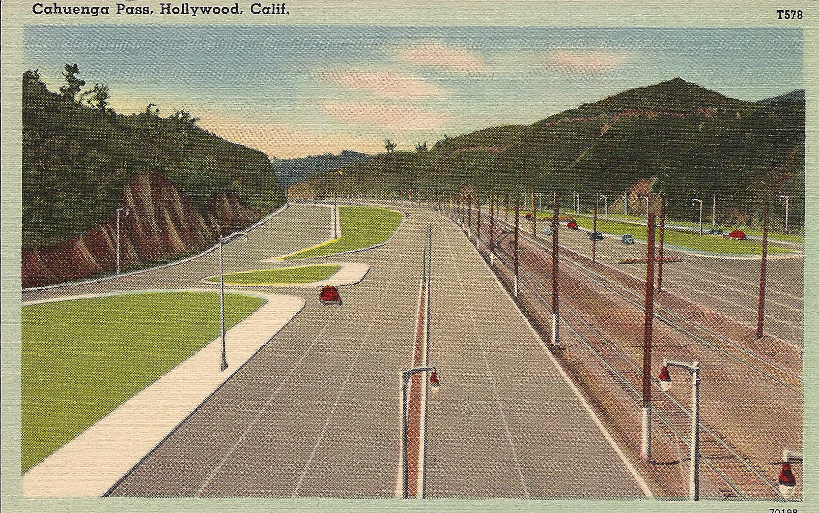 The Cahuenga Pass Parkway in its earliest days